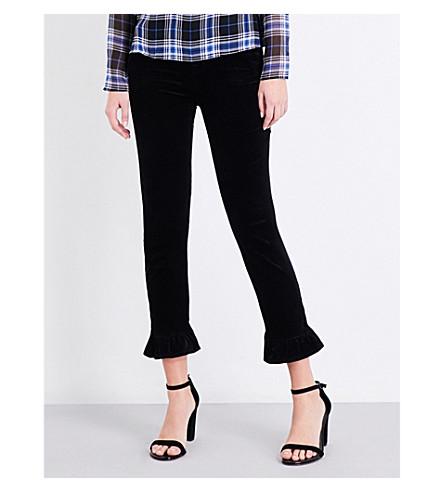 J BRAND Ruby skinny high-rise velvet jeans (Black