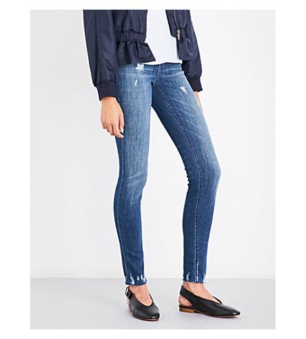 J BRAND Maria skinny high-rise jeans (Identity+destruct