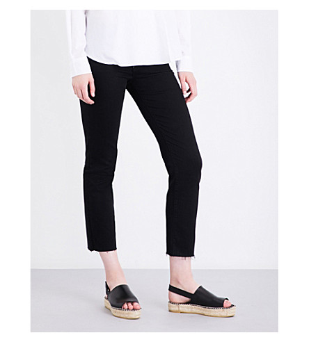 J BRAND Amelia straight cropped mid-rise jeans (Vanity+destruct