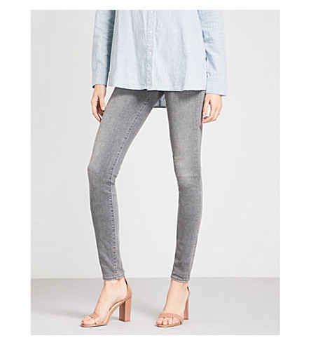 J BRAND Carolina skinny high-rise jeans (Earl+grey