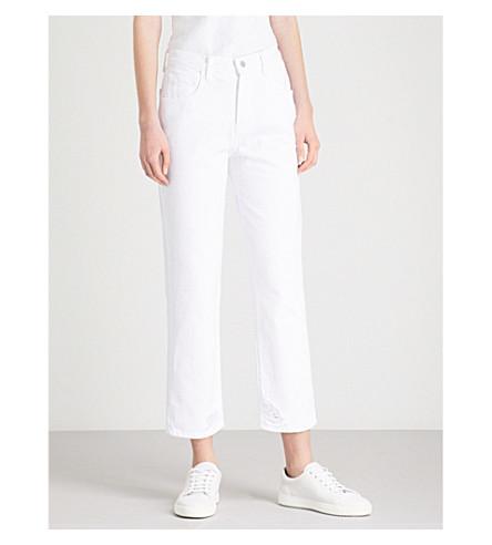 J BRAND Wynne slim-fit straight high-rise jeans (Destruct+hem