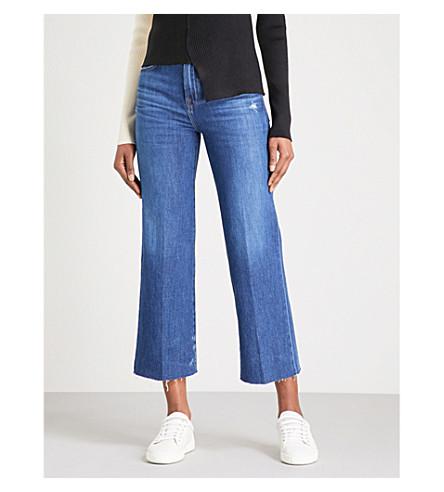 J BRAND Joan raw-hem regular-fit high-rise jeans (Double+take