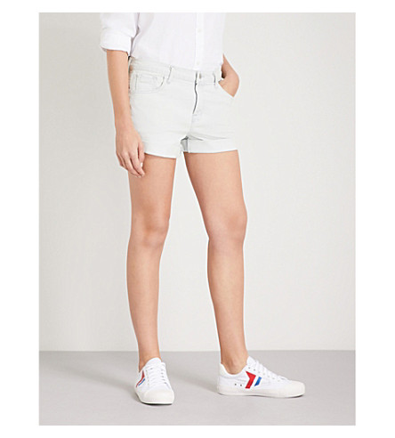 J BRAND Johnny mid-rise stretch-denim shorts (Powered