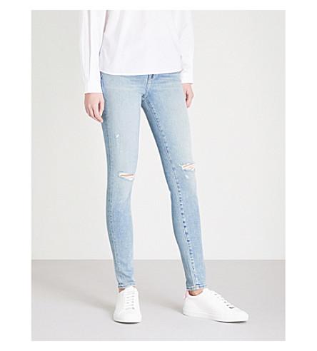 J BRAND Maria slim-fit skinny high-rise jeans (Surge+destruct