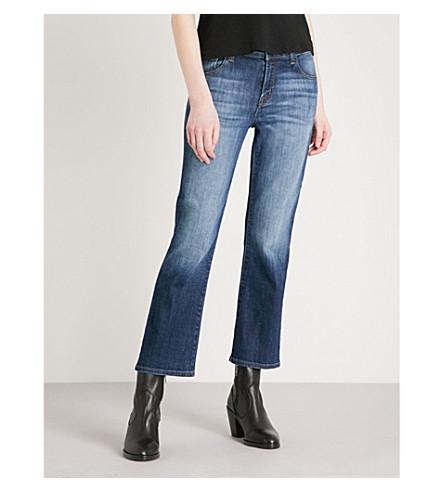 J BRAND Aubrie cropped bootcut high-rise jeans (Jasper