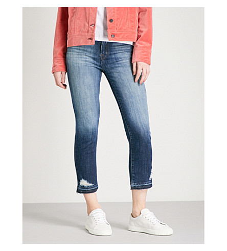 J BRAND Ruby skinny high-rise jeans (Jasper+destricted