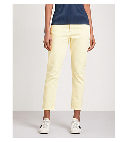 J BRAND Sadie straight high-rise jeans (Butter