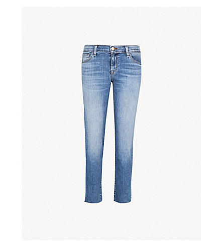 J BRAND Sadie straight-leg mid-rise jeans (Delphi