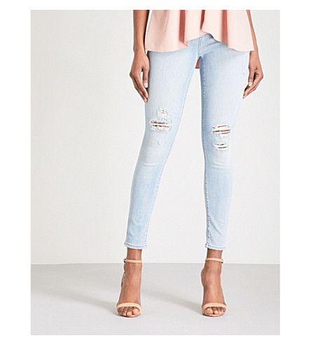 J BRAND Alana skinny high-rise jeans (Refresh+destruct
