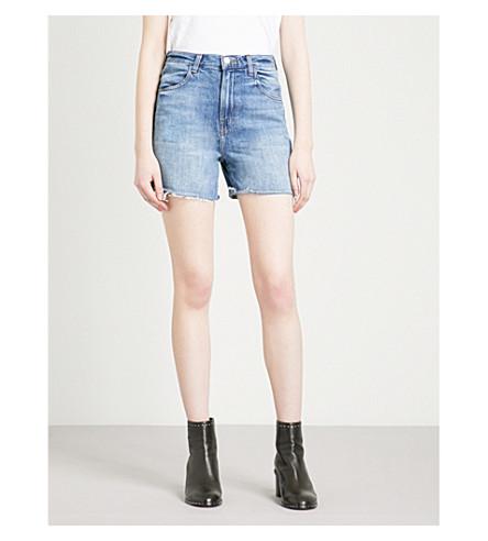 J BRAND Joan frayed-hem denim shorts (Mimic