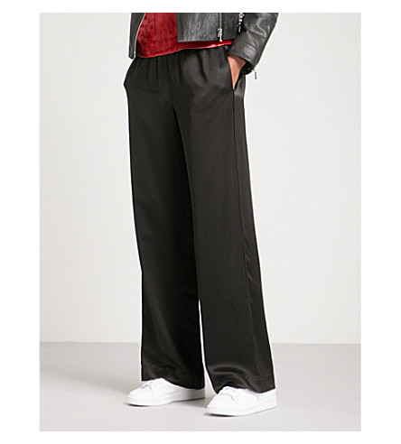 J BRAND FASHION Arden wide-leg satin trousers (Black