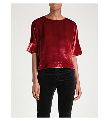 J BRAND FASHION Daisy velvet top (Cherry