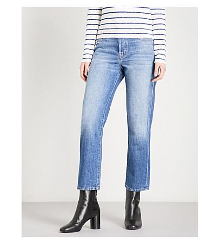 J BRAND Wynne Straight High-Rise Straight-Leg Jeans (Mimic