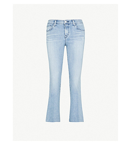 J BRAND Selena mid-rise cropped boot-cut jeans (Patriot
