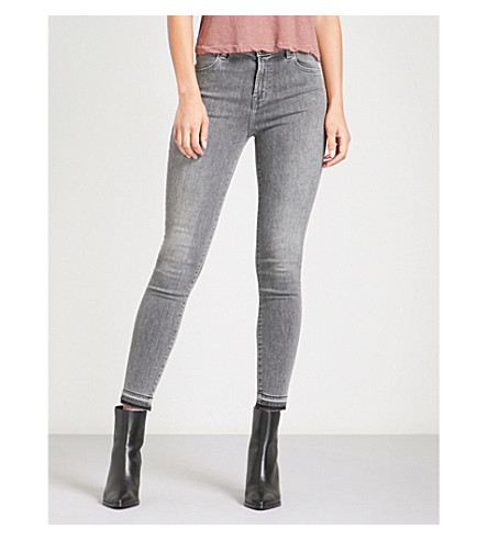J BRAND Alana skinny cropped mid-rise jeans (Earl+grey