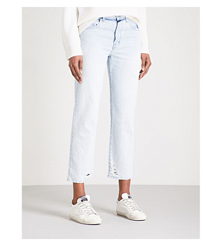 J BRAND Wynne Straight cropped high-rise jeans (Gemini+destruct
