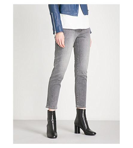J BRAND Sadie slim-fit straight mid-rise jeans (Earl+grey