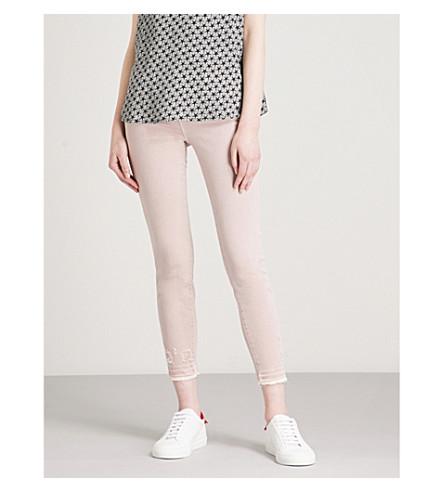 J BRAND 835 Capri skinny mid-rise jeans (Vinca+destruct