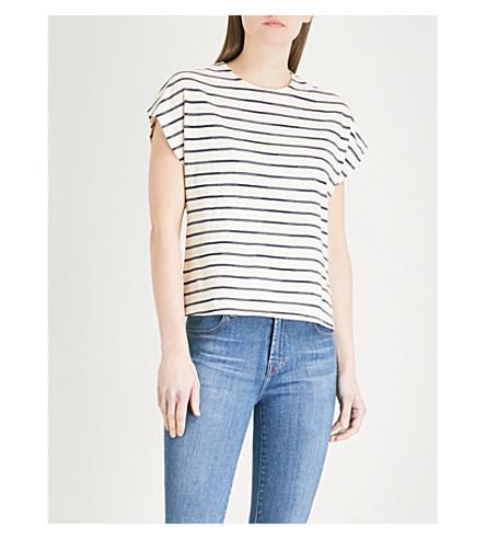 J BRAND FASHION Striped cotton-blend T-shirt (Catalina+stripe