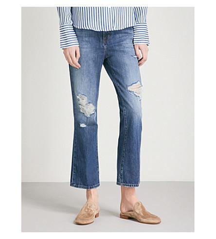 J BRAND Aubrie bootcut high-rise jeans (Astonish+destruct