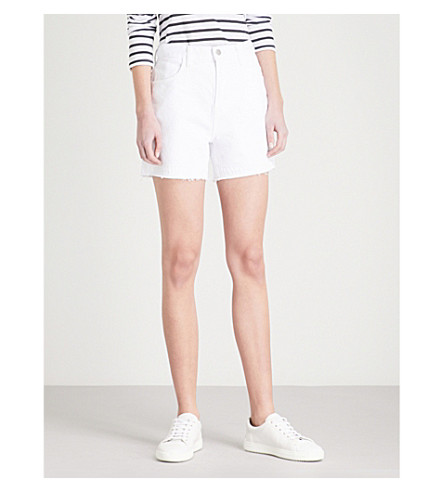 J BRAND Johnny high-rise denim shorts (White