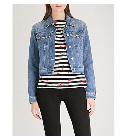 J BRAND Harlow Shrunken denim jacket (Hydra
