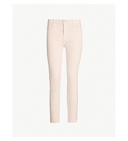 J BRAND Alana skinny high-rise jeans (Distressed+lulled