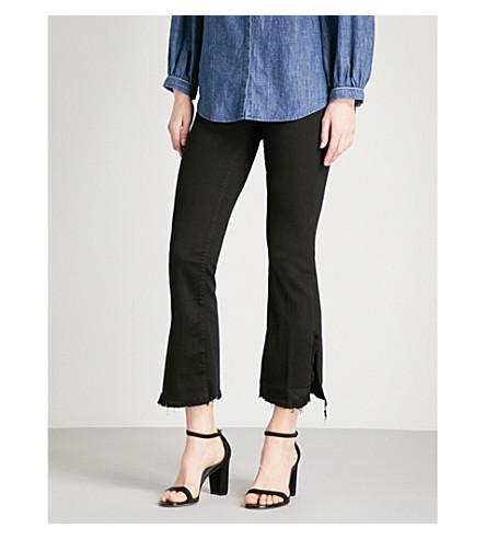 J BRAND Split flare mid-rise jeans (Black