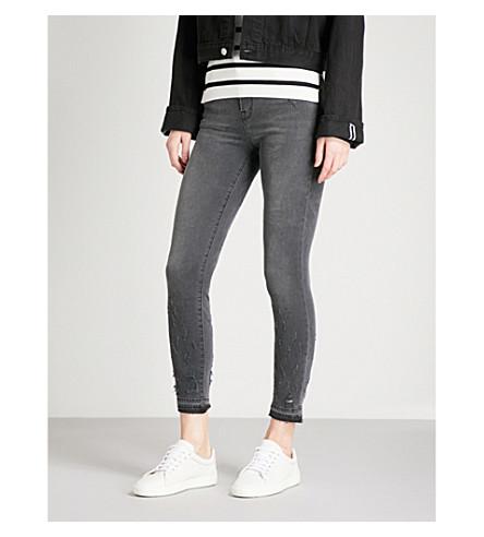 J BRAND Alana skinny high-rise jeans (Ingenious+grey
