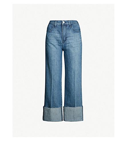 J BRAND Joan wide-leg high-rise jeans (Electric+dream