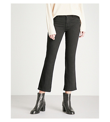 J BRAND Zion crop boot mid-rise jeans (Vanity
