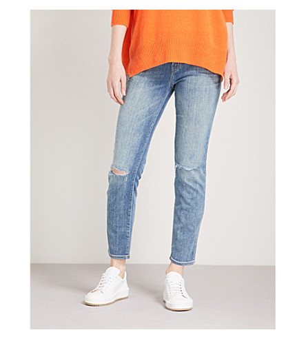 J BRAND Johnny straight mid-rise jeans (Sentimental+destruct