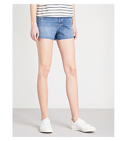 J BRAND Gracie high-rise stretch-denim shorts (Indiana