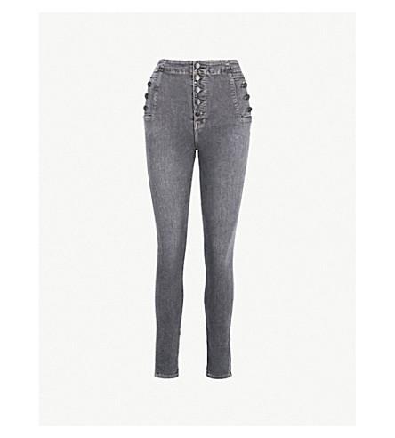 J BRAND Natasha skinny high-rise jeans (Obscura