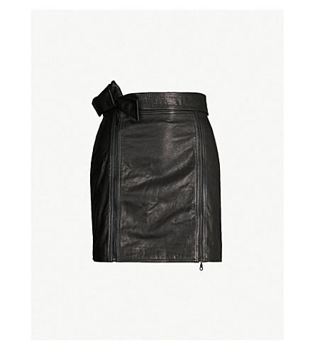 J BRAND FASHION Christa leather mini skirt (Black