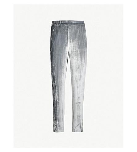 J BRAND FASHION Marlee high-rise velvet trousers (Dark whistle