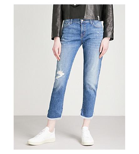 J BRAND Sadie straight-leg mid-rise jeans (Indiana