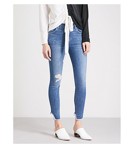 J BRAND Alana super-skinny cropped high-rise jeans (Indiana
