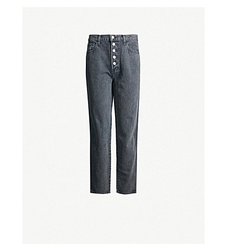 J BRAND Heather mid-rise straight jeans (Haven