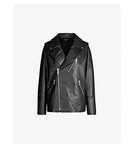 J BRAND FASHION Eden leather biker jacket (Black