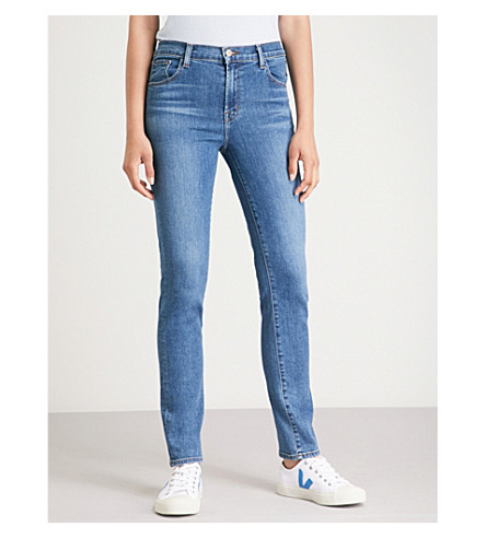 J BRAND Ruby slim-fit cigarette cropped high-rise jeans Lovesick Sale Latest Collections Discount Visa Payment With Paypal Cheap Price Get To Buy Cheap Online Clearance Visit U9Rfz9