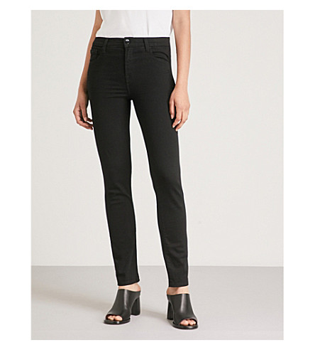 J BRAND Ruby slim-fit cigarette cropped high-rise jeans (Vanity