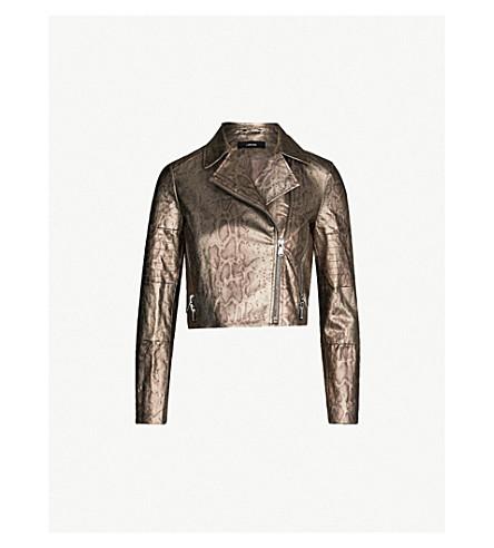 J BRAND FASHION Aiah snake-print denim jacket (Zhora