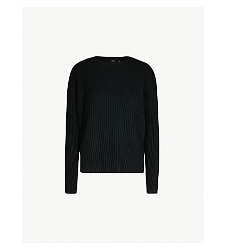 J BRAND FASHION Tiffany ribbed cashmere jumper (Black