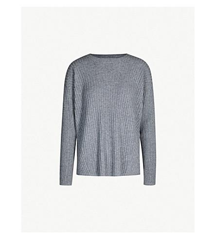 J BRAND FASHION Tiffany ribbed cashmere jumper (Grey smoke
