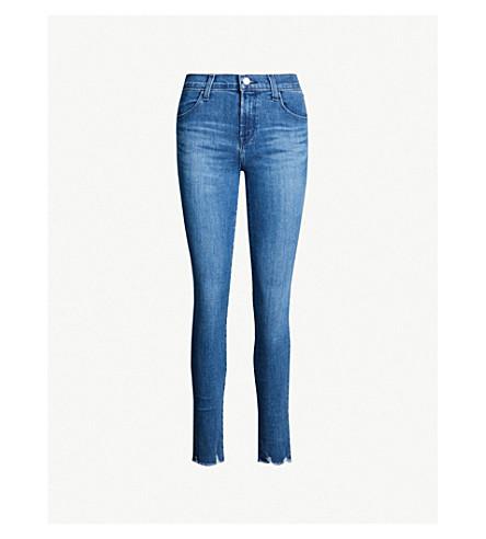 J BRAND Maria raw-hem mid-rise skinny jeans (Rising destruct