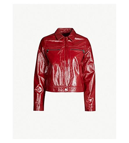 J BRAND FASHION Yvette patent-leather jacket (Patent venetian