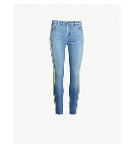 J BRAND Alana side-stripe high-rise skinny cropped jeans (Entente