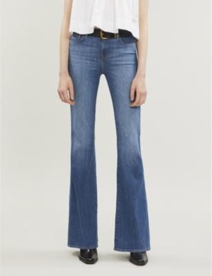 Valentina high-rise flared skinny jeans