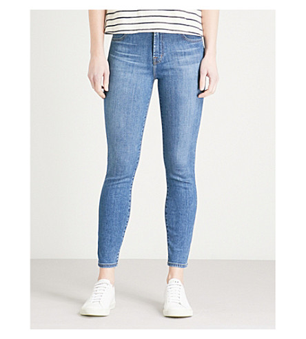 J BRAND Alana skinny high-rise cropped jeans (Lovesick